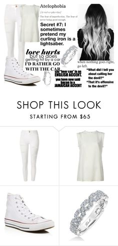 """""""Because My Thoughts Are Locked Inside A Padded Room"""" by makenzi-sixx on Polyvore featuring River Island, Dolce&Gabbana, Converse and Karl Lagerfeld"""