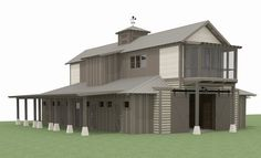 Hickory Farms, Horse Arena, Two Bedroom Apartments, Shipping Container Homes, Farmhouse Plans, Second Floor, Equestrian, Building A House, Outdoor Structures