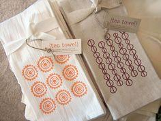 screen printed tea towels by monkeymindesign, via Flickr