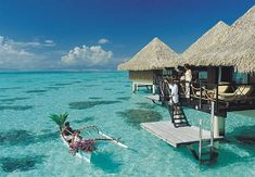 Overwater Bungalow, Over water Bungalow in Tahiti, Cook Islands, Fiji, Bora Bora Resorts with Overwater Bungalow Dream Vacation Spots, Need A Vacation, Vacation Places, Dream Vacations, Places To Travel, Vacation Ideas, Bora Bora, Hawaii Vacation Packages, Oh The Places You'll Go