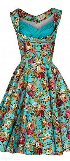 Lindy Bop 'Ophelia' Vintage 1950's Garden Party Dress