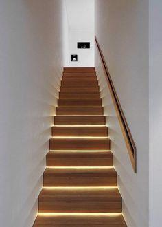 LED подсветка лестницы #design #light #led