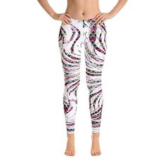 Pattern White Black Unique Designer Womens Leggings Lines Black White Multicolor Bottom Geometric Shapes Leggings Sports Leggings, Women's Leggings, Tights, Clothes For Women In 30's, Summer Outfits, Casual Outfits, Patterned Leggings, Leggings Fashion, Aesthetic Clothes