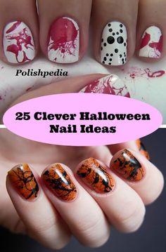 25 Clever Halloween Nail Ideas - XnY DIY Tutorials