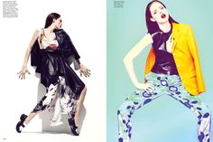 FLARE Feb/12 featuring Coco Rocha, Hair & Makeup by Tony Masciangelo, Manicures by Leeanne Colley, Styling & Fashion Direction by Elizabeth Cabral, Photography by Chris Nicholls (Please keep credits intact)