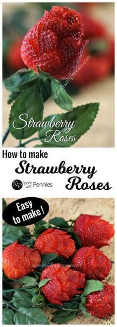 How to make strawber How to make strawberry roses! These...  How to make strawber How to make strawberry roses! These gorgeous roses are so quick & easy to make anyone can do it! They take less than 2 minutes each! Recipe : http://ift.tt/1hGiZgA And @ItsNutella  http://ift.tt/2v8iUYW