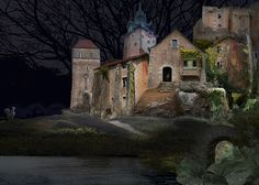 Anja Jager 'Fairy tale town' photoshop collage