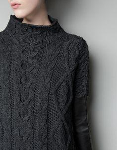 zara   leather sleeves