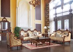 HD520 - Milly Solid Wood and Plush Sofa and Loveseat - Inland Empire Furniture