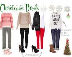 """""""Christmas Break"""" by sarahzimmerling ❤ liked on Polyvore"""