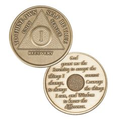 AA Anniversary Medallions, Tri-colored, All Colors, Glow in the Dark, Gemstones, Buy Now $17.95. Available for NA, Bill & Bob, Alcoholics Anonymous, Narcotics Anonymous.