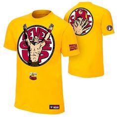 """John Cena """"U Can't C Me"""" Yellow Authentic T-Shirt - WWE"""