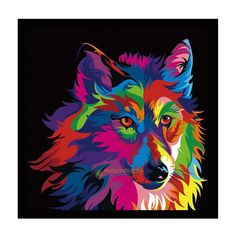 5D Wolf Animal Diamond Embroidery Painting Cross Stitch Craft Mosaic Home Decor | eBay