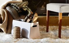 An elegant shape for chic storage of magazines, throw pillows or fire wood - CASE by Calligaris #italian #chic #storage