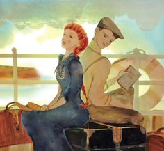 "Elly MacKay, cover art for ""Anne of Island"".  Anne and Gilbert."