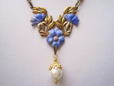 1920s Art Nouveau necklace Edwardian necklace by BrightEchoVintage