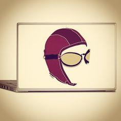 The Aviator Laptop Skin  e-shop CafePress http://www.cafepress.com/jpaero.1667828455  #laptopskin #laptopcover #aviator #gifttoraviator #topgun #giftidea