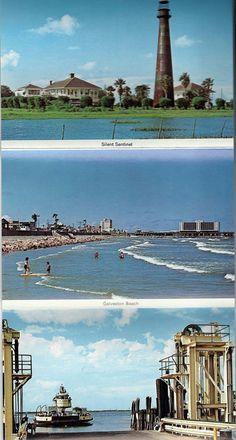 60 Postcard Vintage Galveston Texas Postcard Foldout, 1960s, Paper ...