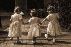 three sisters.   WHEN THEY WERE SMALL.....IT WAS THE BEST TIME OF ALL,!!!!  <3. S K A