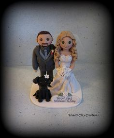 Custom Wedding Cake Topper by Trina's Clay Creations