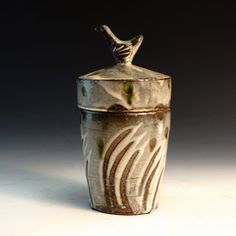 Crimson Laurel Gallery Bandana  Pottery Lidded Jar http://www.crimsonlaurelgallery.com/Artist-Detail.cfm?ArtistsID=1155