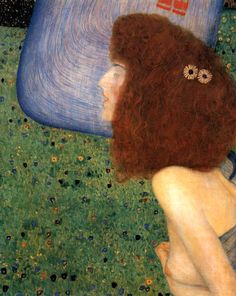 Girl With Blue Veil  Gustav Klimt