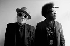 Elvis Costello and Amir Thompson. Photo by Sacha Lecca.