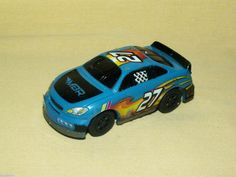 Slot Car MBR Racing 27 GS Blue Black Flames As Is Race MGA Entertainment 27M