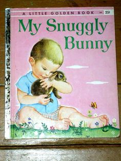 This is a first printing of My Snuggly Bunny, book #250, of this Little Golden Book. It is filled with the wonderful illustrations done by Eloise Wilkins. It has 24 pages and all are intact with no markings. There is very minor corner and edge wear. There is a previous owners name written on the inside front cover.  Priced at $50.00.