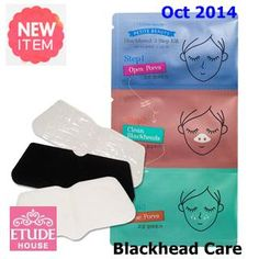 New October  2014   US$11.9  [ EtudeHouse ] Petit Beauty Black Head 3-Step Kit 4ea(New2014), Korean Best Cosmetics, Free Shipping