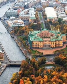 Beautiful Castles, Beautiful Places, Travel Around The World, Around The Worlds, Russian Architecture, St Petersburg Russia, World Heritage Sites, Aerial View, Places To See