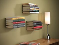 Conceal Wall Book Shelf - why have bookshelves when your books can float