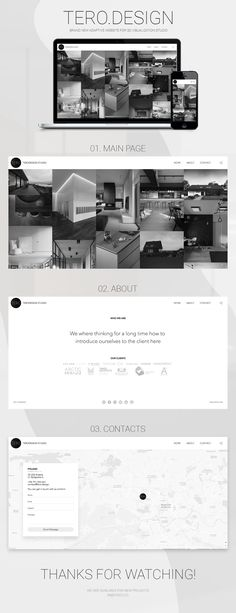 Ознакомьтесь с моим проектом @Behance: «Website redesign for 3D visualization studio» https://www.behance.net/gallery/53357863/Website-redesign-for-3D-visualization-studio