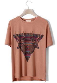 Aztec Triangle Deer T-shirt