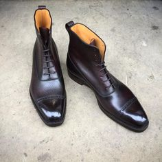 """gazianogirling: """"Ready for winter weather: the """"Canterbury"""" on the MH 71 last. Made to Order in oak hatch grain with a dark patina. #gazianogirling #gazianoandgirling #shoeporn #madetoorder #patina..."""