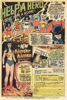 Mego figures comic book ad