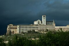 Storm Clouds Over Assisi by virtualwayfarer, #Umbria