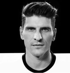 Mario Gomez black and white Mario Gomez, My Sisters Keeper, Sports Celebrities, Physical Activities, Competition, Soccer, Football, Exercise, Black And White