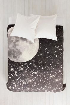 Urban Outfitters, you're killing me. I want to sleep under the moon and stars. Shannon Clark For DENY Love Under The Stars Duvet Cover - Urban Outfitters My New Room, My Room, Dorm Room, Duvet Covers Urban Outfitters, Decoration Inspiration, Dorm Decorations, Dream Bedroom, Bed Spreads, Bed Sheets