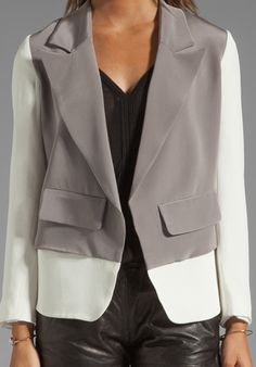 PENCEY Layer Blazer in Grey | Revolve Clothing $138 sale