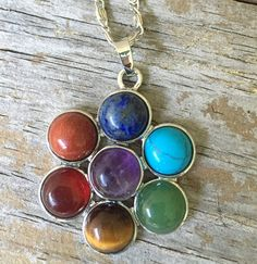 Chakra Crystal Necklace/ Healing Necklace/ 7  by Beadaboutique