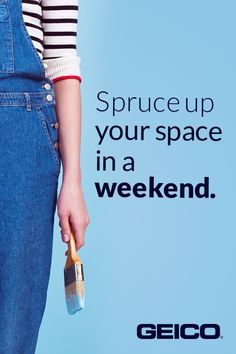 No plans this weekend? Give your place a little makeover! We'll tell you how easy it is.