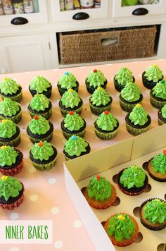 How to pipe Christmas Tree Forest Cupcakes   @ninerbakes