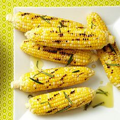 Rosemary Corn on the Cob -- Corn actually has 75% less sugar than produce like cherries and apples. Sweet!