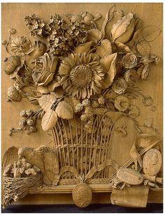 Чтобы увидеть работу французского мастера, не обязательно ехать в американские или европейские музеи. Одна из его замечательных работ хранится в Санкт-Петербурге, в музее Эрмитаж. Это 1784 год. Великолепный букет с доминирующим подсолнухом. Очень эффектно вырезана корзина и цветы внутри нее.
