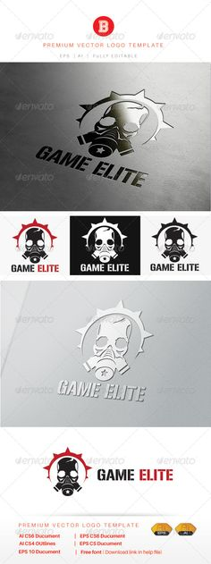 Game Elite — Vector EPS #robot #website • Available here → https://graphicriver.net/item/game-elite/7983201?ref=pxcr