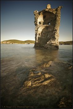 A Genoan tower in the northern coast of Corsica, France Places Around The World, Oh The Places You'll Go, Places To Travel, Places To Visit, Around The Worlds, Travel Destinations, What A Wonderful World, Wonderful Places, Beautiful World