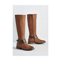 Safari Thicket to Fame Boot ($70) ❤ liked on Polyvore featuring shoes, boots, boot - bootie, brown, flat boot, ankle boots, knee high buckle boots, buckle boots, brown knee boots and brown bootie