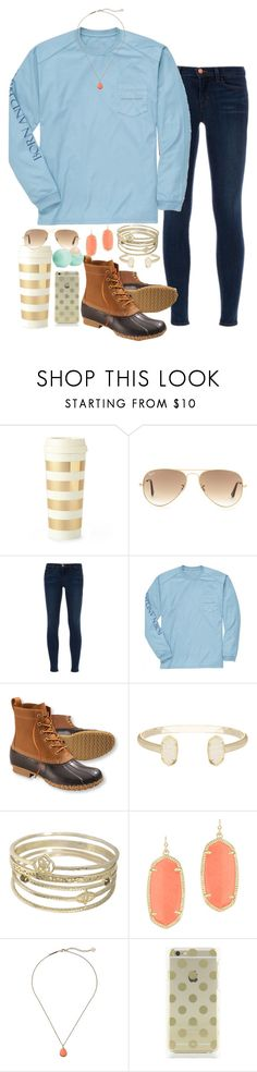 """#sevendaysinfall contest, day 4"" by emilyw01 ❤ liked on Polyvore featuring Kate Spade, Ray-Ban, J Brand, Southern Proper, L.L.Bean, Kendra Scott, Eos and sevendaysinfall"