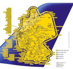 Fliegende Städte #infografik